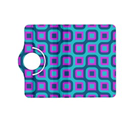 Blue Purple Squares Pattern Kindle Fire Hd (2013) Flip 360 Case