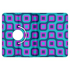 Blue Purple Squares Pattern Kindle Fire Hdx Flip 360 Case