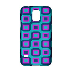 Blue Purple Squares Pattern Samsung Galaxy S5 Hardshell Case