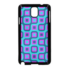 Blue Purple Squares Pattern Samsung Galaxy Note 3 Neo Hardshell Case (black)