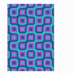Blue purple squares pattern Small Garden Flag (Two Sides)