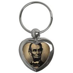 Vintage Civil War Era Lincoln Key Chain (heart)