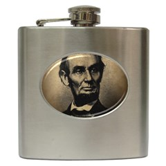 Vintage Civil War Era Lincoln Hip Flask