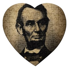 Vintage Civil War Era Lincoln Jigsaw Puzzle (heart)