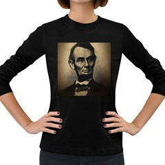 Vintage Civil War Era Lincoln Women s Long Sleeve T Shirt (dark Colored)