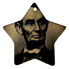 Vintage Civil War Era Lincoln Star Ornament (two Sides)