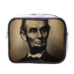 Vintage Civil War Era Lincoln Mini Travel Toiletry Bag (one Side)