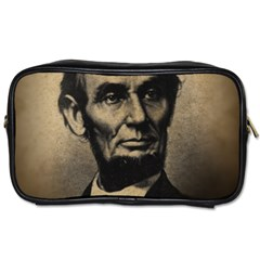 Vintage Civil War Era Lincoln Travel Toiletry Bag (two Sides)