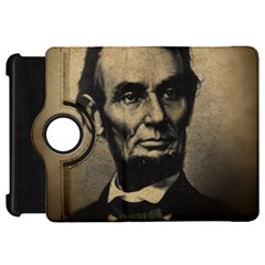 Vintage Civil War Era Lincoln Kindle Fire Hd Flip 360 Case