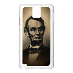 Vintage Civil War Era Lincoln Samsung Galaxy Note 3 N9005 Case (white)