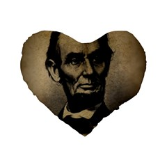 Vintage Civil War Era Lincoln 16  Premium Flano Heart Shape Cushion
