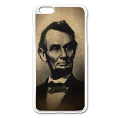 Vintage Civil War Era Lincoln Apple iPhone 6 Plus Enamel White Case