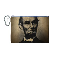 Vintage Civil War Era Lincoln Canvas Cosmetic Bag (Medium)