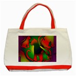 Rainbow Purple Cats Classic Tote Bag (Red) Front
