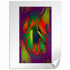 Rainbow Purple Cats Canvas 36  X 48  (unframed)