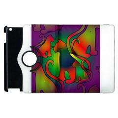 Rainbow Purple Cats Apple iPad 2 Flip 360 Case