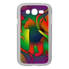Rainbow Purple Cats Samsung Galaxy Grand Duos I9082 Case (white)