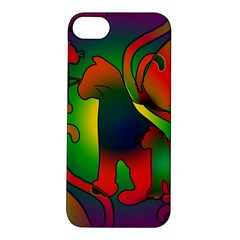 Rainbow Purple Cats Apple Iphone 5s Hardshell Case