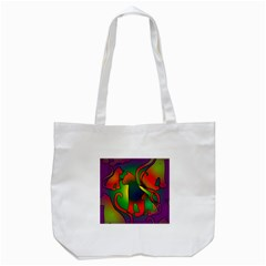 Rainbow Purple Cats Tote Bag (white)