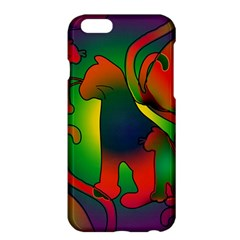 Rainbow Purple Cats Apple iPhone 6 Plus Hardshell Case