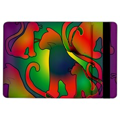 Rainbow Purple Cats Apple iPad Air 2 Flip Case