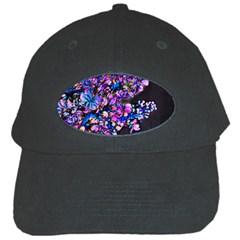Abstract Lilacs Black Baseball Cap