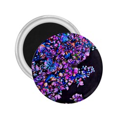 Abstract Lilacs 2 25  Button Magnet
