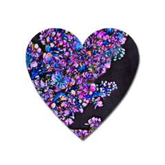 Abstract Lilacs Magnet (heart)