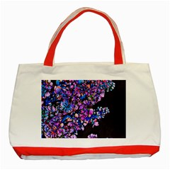 Abstract Lilacs Classic Tote Bag (Red)