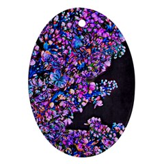 Abstract Lilacs Oval Ornament (two Sides)