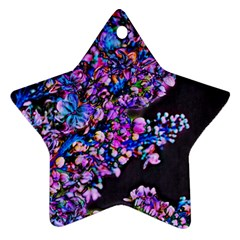 Abstract Lilacs Star Ornament (two Sides)