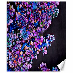 Abstract Lilacs Canvas 8  X 10  (unframed)