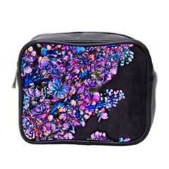 Abstract Lilacs Mini Travel Toiletry Bag (two Sides)