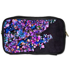 Abstract Lilacs Travel Toiletry Bag (one Side)