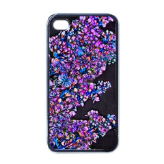 Abstract Lilacs Apple Iphone 4 Case (black)