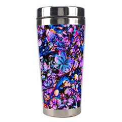 Abstract Lilacs Stainless Steel Travel Tumbler