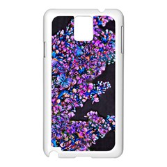 Abstract Lilacs Samsung Galaxy Note 3 N9005 Case (White)