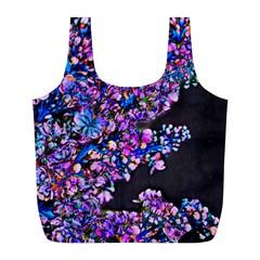 Abstract Lilacs Reusable Bag (L)