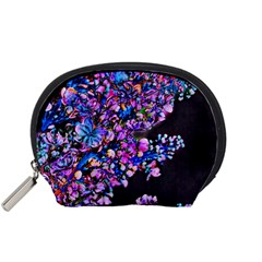 Abstract Lilacs Accessory Pouch (small)