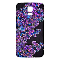 Abstract Lilacs Samsung Galaxy S5 Back Case (White)