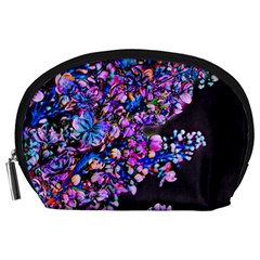 Abstract Lilacs Accessory Pouch (large)