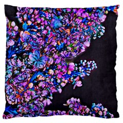 Abstract Lilacs Large Flano Cushion Case (One Side)