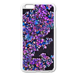 Abstract Lilacs Apple iPhone 6 Plus Enamel White Case