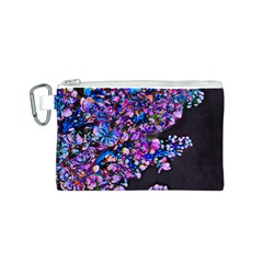 Abstract Lilacs Canvas Cosmetic Bag (Small)