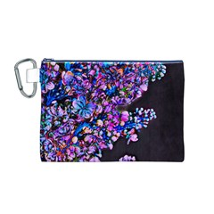 Abstract Lilacs Canvas Cosmetic Bag (Medium)