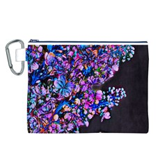 Abstract Lilacs Canvas Cosmetic Bag (Large)