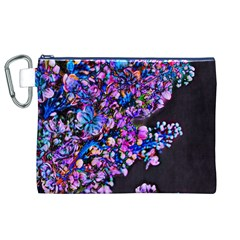Abstract Lilacs Canvas Cosmetic Bag (XL)