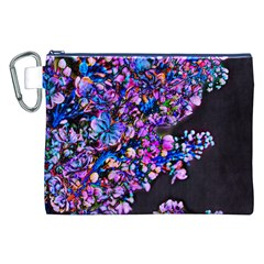 Abstract Lilacs Canvas Cosmetic Bag (XXL)