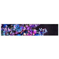 Abstract Lilacs Flano Scarf (small)