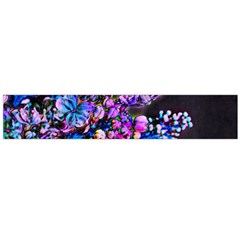 Abstract Lilacs Flano Scarf (Large)